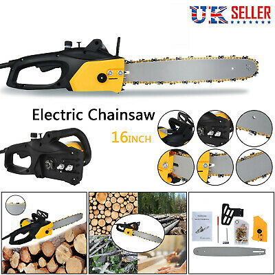 Electric Chainsaw Garden Tools 2000W 40 Cm Blade Corded Aluminum Wood Cutting • 45.88£