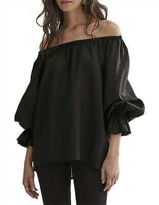 AU48 • Buy Country Road Frill Sleeve Top Size 10, S Black BNWT RRP $139