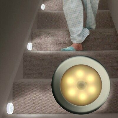 LED Wireless PIR Auto Motion Sensor Infrared Night Light Cabinet Stair Lamps • 5.39£