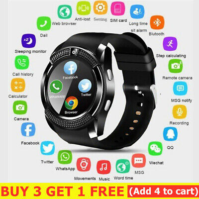 AU24.66 • Buy V8 Bluetooth Smart Watch Waterproof SIM Camera Wrist Watches Kids For Android-AU
