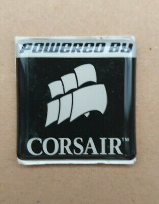 Powered By Corsair Sticker PC Badge New In Bag • 3.49£