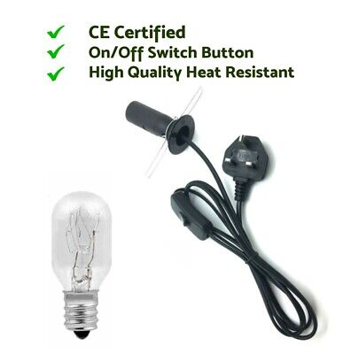 Brand New High Quality Black Salt Lamp Replacement Uk Plug ON/OF Cable  • 6.70£