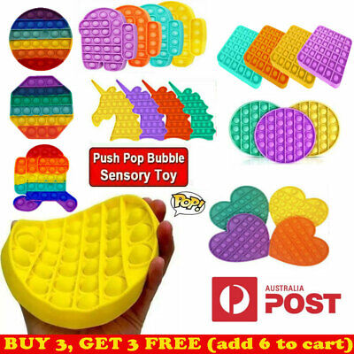 AU11.59 • Buy Push Pop It Bubble Special Needs Silent Sensory Fidget Kids Toy Autism Classroom