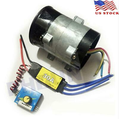 $43.81 • Buy 12V Car Electric Turbo Supercharger Air Intake Fan Boost W/ 30A Brushless ESC