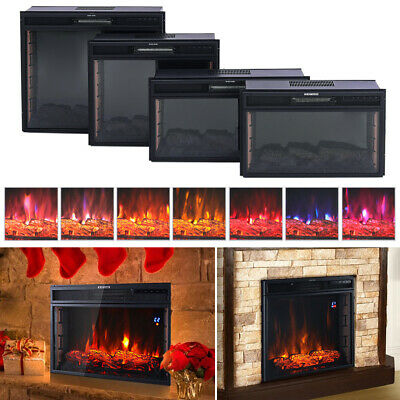 24/28  Electric Fireplace LED Flame Effect Surround Stove Free Standing Insert • 199.14£