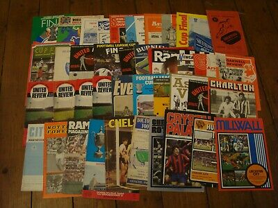 41 Programmes:- 1953 - 2010  Inc FA & League Cup Finals (all Listed) • 9.99£