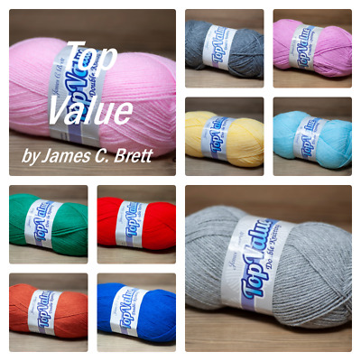 Top Value DK Super Soft Knitting Wool Yarn By James C.Brett 100gm  20 COLOURS  • 1.99£