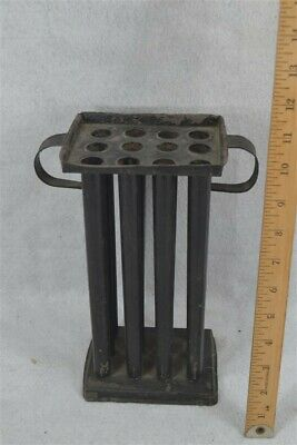 $ CDN120.71 • Buy Old Candle Mold Painted Tin Handles 12 Holes Early Primitive Original 18th C