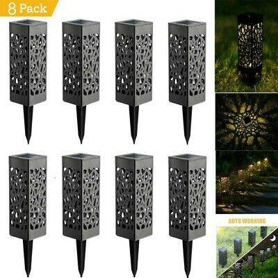 Solar Powered Outdoor Garden LED Stake Path Lights Garden Driveway Lighting UK • 15.99£
