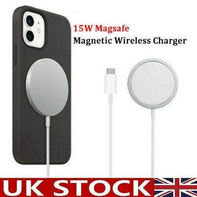 15W Magnetic Magsafe Fast Charging Charger Pad For IPhone 11 12 Pro Max 12 Mini • 5.99£
