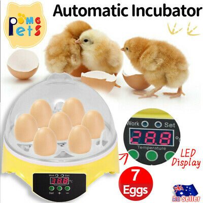 AU20.88 • Buy 7Eggs Incubator Automatic Digital LED Turner Poultry Hatcher Temperature Control