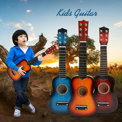 21'' Inch Beginners Kids Acoustic Guitar Musical Instrument Children Toy Gift  • 15.04£