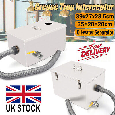 £33.57 • Buy Stainless Steel Grease Trap Interceptor Oil Water Separator Kitchen Commercial