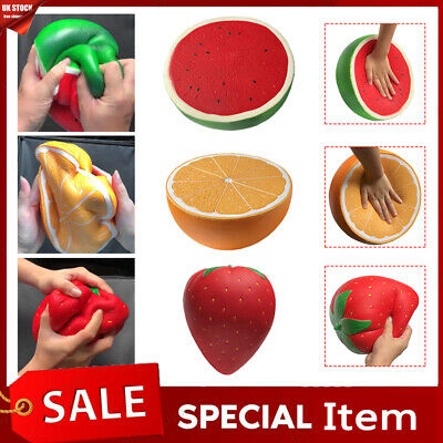 AU11.01 • Buy Jumbo Squeeze Watermelon Orange Strawberry Squishies Toy Stress Relief Gift Toys