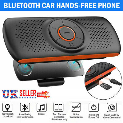 Bluetooth Car Kit Wireless Hands Free Speakerphone Call Speaker For Mobile Phone • 16.79£