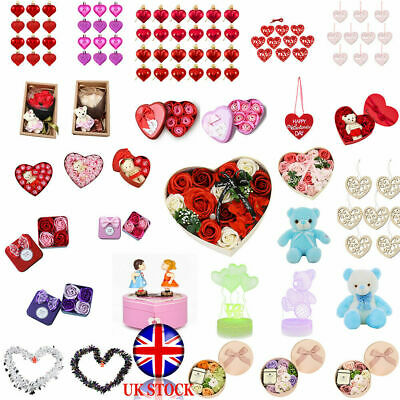VALENTINES DAY ROMANTIC GIFTS His & Her Love Heart Cute Bears Valentine Gift UK • 6.53£
