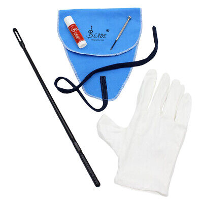 AU14.95 • Buy 1 Set Flute Cleaning Kit Cleaning Polish Cloth+Stick+Cork Grease+Screwdriver For
