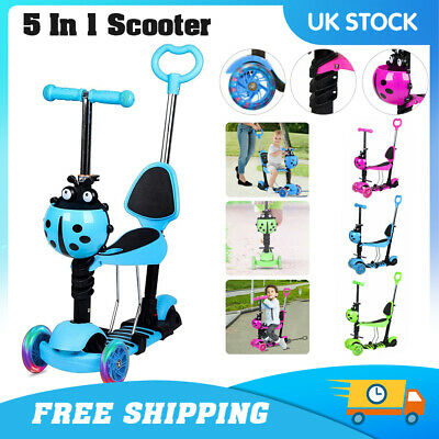 £22.99 • Buy Kids Scooter Adjust Seat Toddler Kick Scooter Flashing Wheels Child Toys 5-in-1