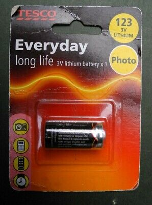 £1.95 • Buy Tesco CR123A 3 Volt Battery Lithium Battery 3v Camera Battery New Old Stock