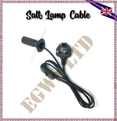 Replacement Cable For Himalayan Salt Lamp UK Plug With On-Off Button 1.5m Length • 6.75£