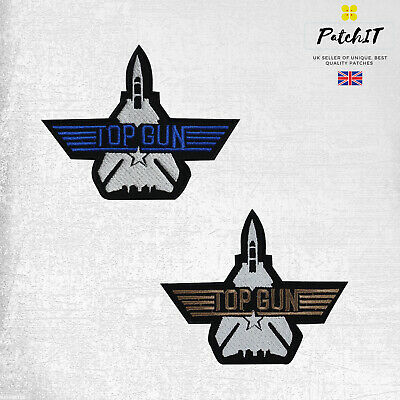 £1.99 • Buy Top Gun Patch To Iron/ Sew On, Embroidered Cloth Patches, Badges