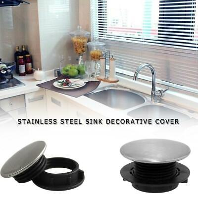 Stainless Steel Kitchen Sink Tap Hole Blanking Plug Metal Stopper Basin Cover UK • 4.32£