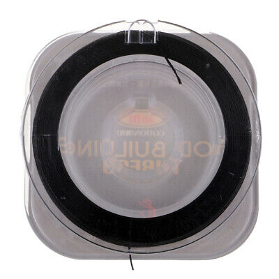 Cotton Wrapping Whipping Thread Fix Line For DIY Fishing Rod Ring Guides Black • 3.28£