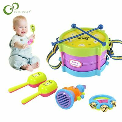 Kids Drum Toy Trumpet Musical Percussion Instrument Band Kit Early Learning • 18.08£