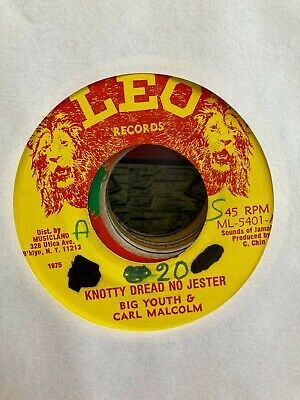 Big Youth & Carl Malcolm Knotty Dread No Jester Vintage 1975 Reggae 7  Vinyl • 5.99£