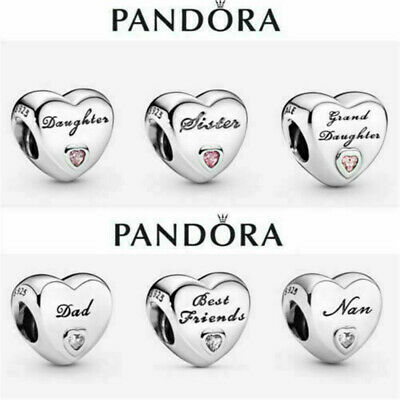 £9.97 • Buy New Genuine PANDORA Sterling Silver ALE S925 Charm Daughter Wife Mum Love Heart