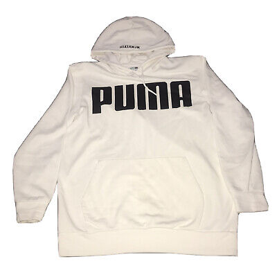 AU19.99 • Buy Puma White Hoodie Mens MCMXLVIII Size M Stained Preowned