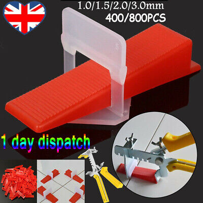 UK Stock 400/800 Tile Leveling Spacer System Tool / Wedges / Pliers Tool Tiling • 13.59£