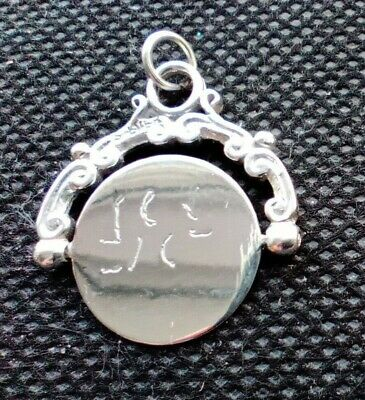 Vintage Ornate - ' I Love You ' - Spinner Charm Or Pendant - Marked 'Silver' • 16.50£