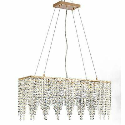 £117.99 • Buy Quality Gold Rectangle Modern Crystal Chandelier Lighting Ceiling