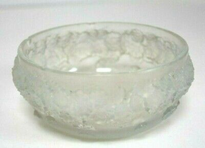 Rene Lalique Opalescent Bowl With Floral Decoration. • 435£