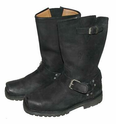 Wow!   Sancho   Biker Boots/Western Boots/Leather Boots IN Black Size 40 • 40.81£