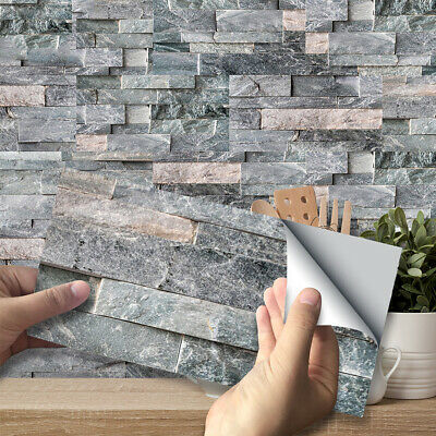 DIY Self-adhesive Brick Tiles Wall Stickers Kitchen Bathroom Wall Art Home Decor • 5.71£