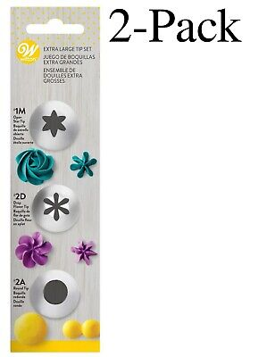 £8.92 • Buy Wilton 3-Piece Stainless Steel Extra Large Decorating Tip Set (Pack Of 2)