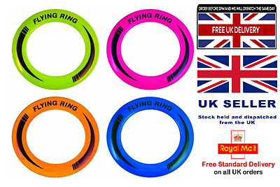 £5.10 • Buy 10  Neon Flying Ring Disc Frisbee Flyer Adult Kids Family Outdoor Play Dog Disc