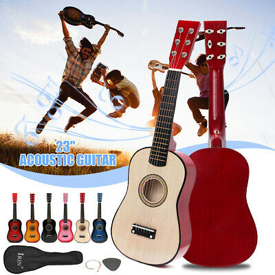 UK 21/23'' Wood Beginners Mini Acoustic Guitar Kids XMAS Gifts Children School • 14.93£