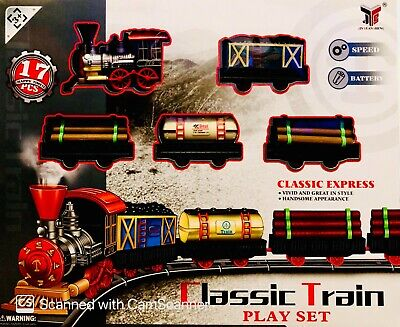 £12.99 • Buy Classic Express Train Set With Tracks Battery Operated Speed Children Kids Toy
