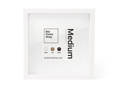 New Square Deep Shadow Box Photo Picture Frame White 25x25cm Scrabble Display 3D • 9£