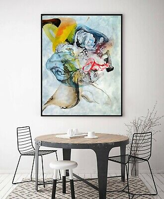 AU199.99 • Buy Home Decor Print Paper Canvas Wall Art Abstract Watercolor Series A Poster