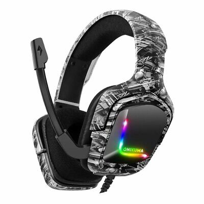 AU32.95 • Buy ONIKUMA K20 Gaming Headset MIC Headphones For PC Laptop PS4 PS5 Slim Xbox One