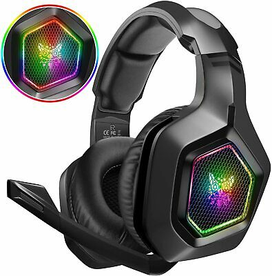 AU36.95 • Buy ONIKUMA K10 Gaming Headset RGB LED MIC Headphones For PC Laptop PS4 PS5 Xbox One