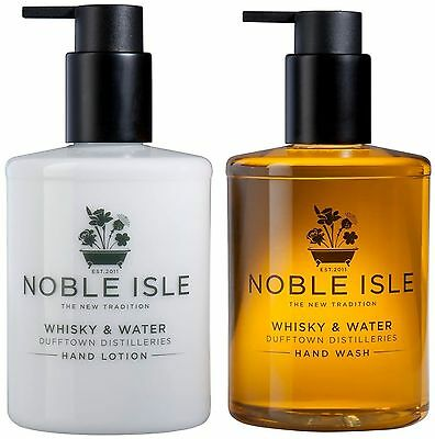 £28 • Buy Noble Isle Hand Wash / Hand Lotion  Whisky & Water  - NEW (2 X 250ml Bottles)