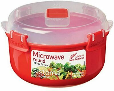 AU15.79 • Buy Sistema Microwave Lunch Box Container Hot Food Bowl Porridge Plastic Mug Klip It