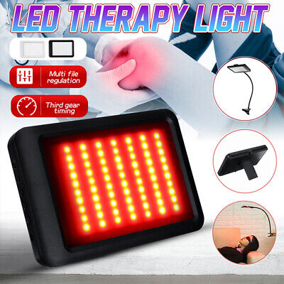 Infrared LED Therapy Pad Red Light Lamp Deep Penetration Pain Relief Safe  K • 28.43£