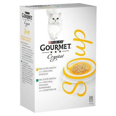 GOURMET Soup Adult Cat Chicken Variety Multipack 4x40g Pack Of 10 • 31.95£