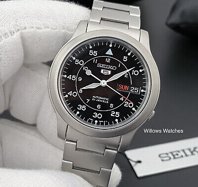$ CDN174.63 • Buy Seiko 5 Men's Automatic Stainless Steel Black Dial Watch SNK809K1 - Brand New